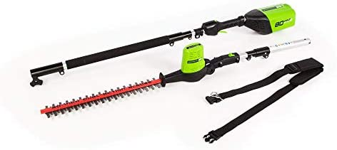 Greenworks 20-Inch 80V Cordless Pole Hedge Trimmer, 20 inches, PH80B00 Renewed