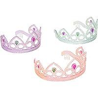 Tiaras coloridas de la fiesta de la princesa, colores surtidos por SmallToys - Unidad de 12