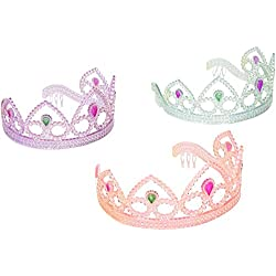 SmallToys Colorful Princess Party Tiaras, Assorted Colors Unit of 12