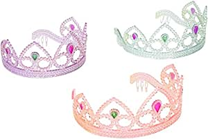 Colorful Princess Party Tiaras - 12 per unit, Assorted Colors by SmallToys