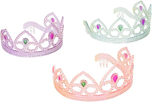 (Colorful Princess Party Tiaras, Assorted Colors by SmallToys - Unit of 12)