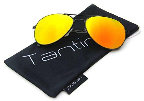 Tantino® Classic Aviator Sunglasses Flash Lens