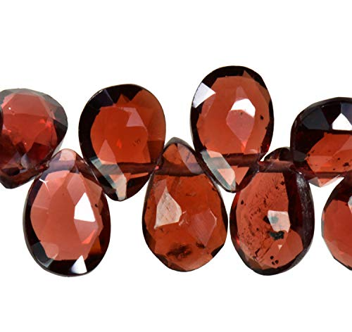Garnet Briolettes Pear A+ Facet Beads Natural ~7mm 8