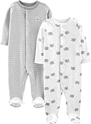 Simple Joys by Carter's Baby 2-Pack Cotton Footed Sleep and