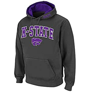 Mens NCAA Kansas State Wildcats Pull-over Hoodie (Charcoal) - 2XL