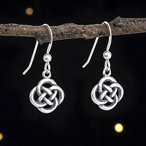 Sterling Silver Tiny Celtic Love Knot Earrings - Solid .925 Sterling Silver, Ready to Ship ()