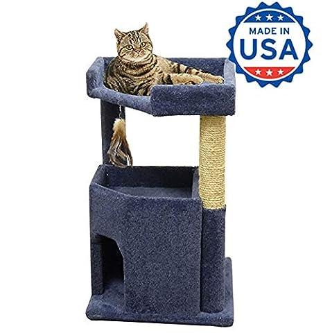 Amazon.com: Cat Condo Casa 33 inch Madera Gato Muebles con ...