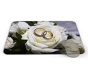 White roses Mousepad - Mousepad / White roses Mousepad / Mousepad / Mousepad - AArt #MP028 (9.84 X 7.87 inches)
