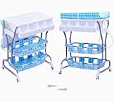 Baby Changer Tray Bathing Diaper Bumper Toddler Cover Seat Newborn Top Dresser 2 Tier Table Portable & Ebook by AllTim3Shopping.