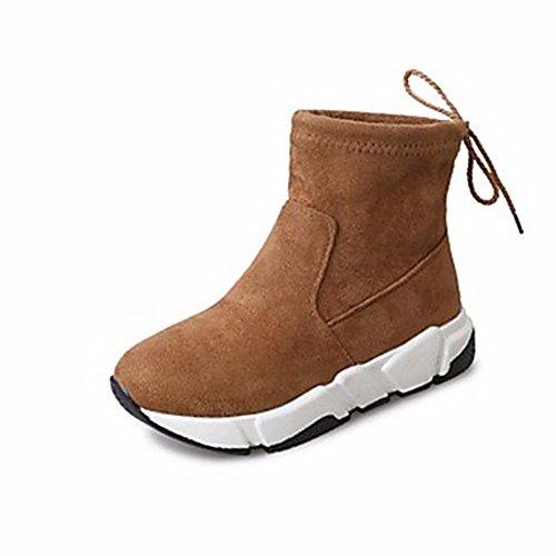 Bowknot Us8 Jaune Talon Plat Chaussures Bottes Noir Rond Bout Décontracté Uk6 Cn39 Femmes Neige pour ZHUDJ Jaune De pour D'automne Eu39 Bottes Uq64Fwf7