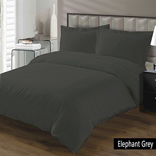 Buy Cheap Luxurious, Soft and Hypoallergenic 100% Egyptian Cotton 1000 Thread Count Duvet Cover (1 Pc Duvet Cover with Zipper Closure) By BED ALTER Solid.(Elephant Grey, Queen/Full)