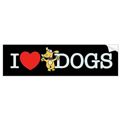 I love dogs bumper sticker sticker graphic beware of dog lover sticker sign for