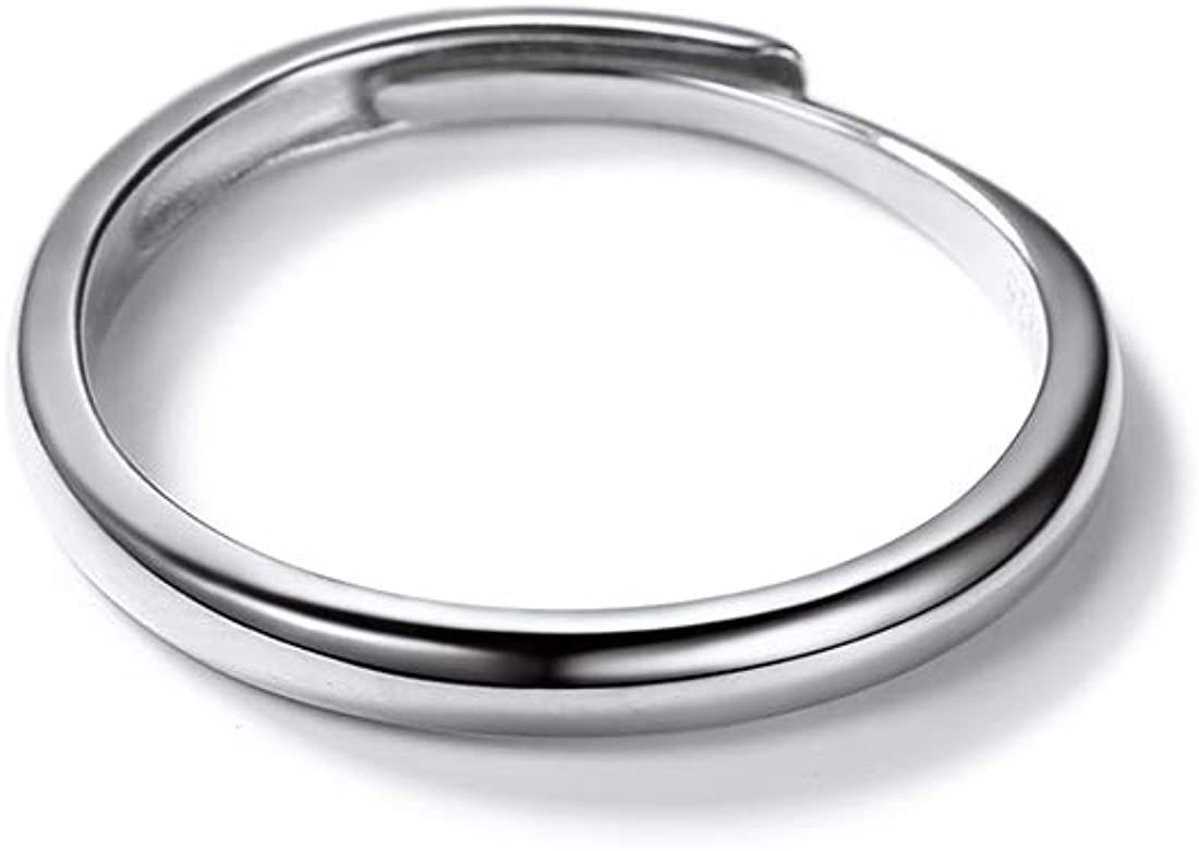 Custom Engrave Wedding Band 925 Sterling Silver 2.5mm Wide Couple Rings Personalized with Names