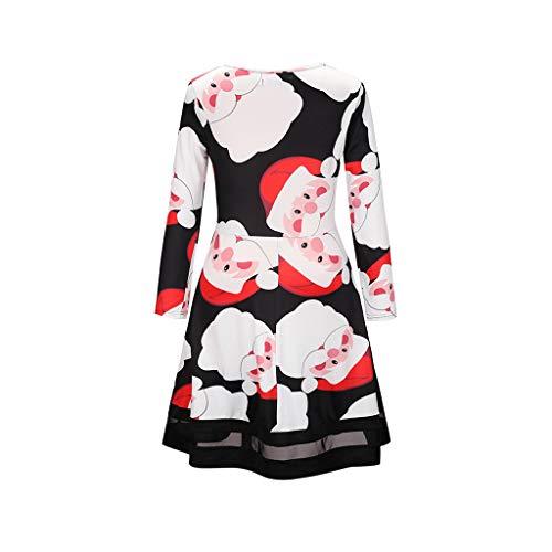 Robe De Dessin Anim  Manches Longues Robe De Maille Imprime Adapte Aux Festivals d'automne Et d'hiver Cadeaux De No?l,XXL