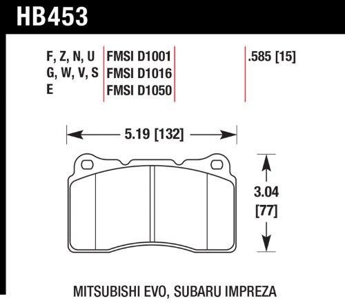 Hawk HB453E.585 Blue 9012 Compound Front Brake Pads