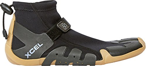 (Xcel Infiniti Split Toe Reef Boots, Black/Gum, Size 10/1mm)
