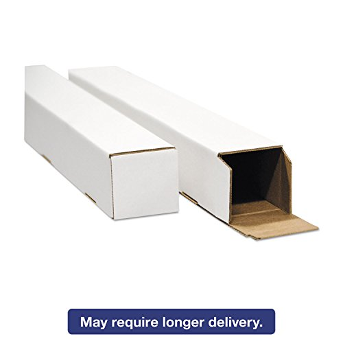 Square Mailing Tubes, 25l X 3w X 3h, White, 25/pack by United Facility Supply