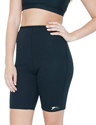 Delfin Spa Women's Heat Maximizing Neoprene Exercise and Anti-Cellulite Shorts, BLACK, - Shorts Womens Neoprene