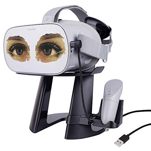 AMVR VR Stand -Virtual Reality 3D Glass Headset Display Holder, VR Headset Station with Magnetic USB Cable for Charging…