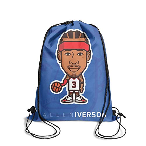Basketball Gymsack Drawstring Backpack Sports Printted Patterned Bookbags Durable