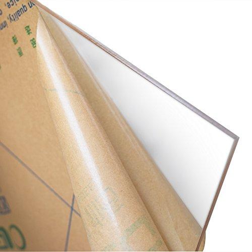 Acrylic Plexiglass Cast Transparent Plastic Sheet 12 x 20 Inch (.118