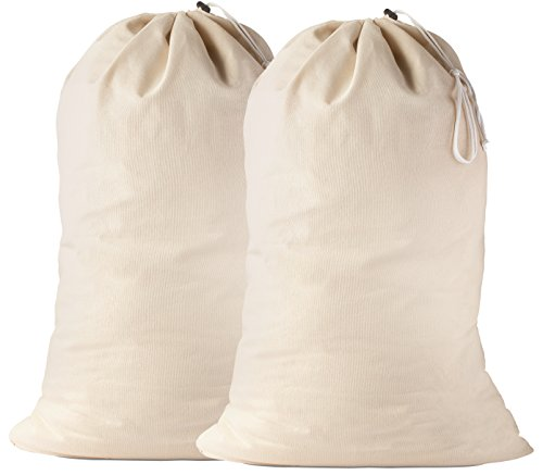 Best Laundry Bag For College Students - Cotton Laundry Bag, 2 Pack -