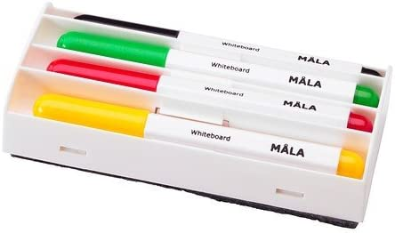 Ikea Mala – Whiteboard Pen, Assorted Colours/4 Pack: Amazon.es: Hogar