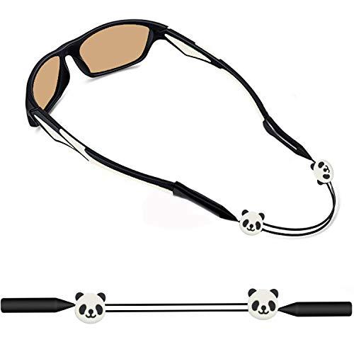 KSACLE Kids Glasses Strap Anti-Slip Eyeglass Strap Adjustable Sports Glasses Strap Holder Sunglasses Retainer for Boys Girls (Panda) (Strap For Children Glasses)