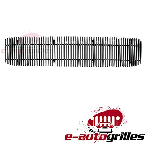 EAG Vertical 1PC 4mm Overlay Billet Grille for 94-97 GMC Sonoma ()