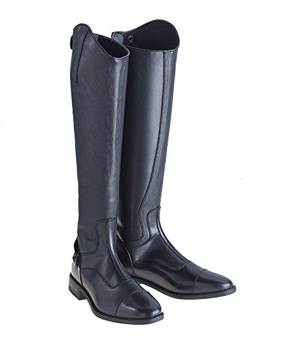 Just Togs botas de equitación Varallo, otoño/invierno, unisex, color Negro - negro / negro, tamaño 7 Negro - negro / negro