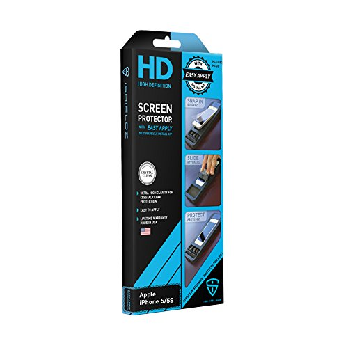 iShieldz HD High Definition Screen Protector with Easy Apply for iPhone 5/5S - Retail Packaging - Clear