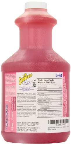 Sqwincher 050102-FP 64 oz Lite Liquid Concentrate Electrolyte Replacement Beverage Mix, 5 Gallon Yield, Fruit Punch (Case of 6) by Sqwincher [Foods]