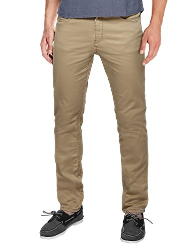 Sons Men Pants (Match Men's Slim Fit Straight Leg Casual Pants(38, 8032 Khaki))