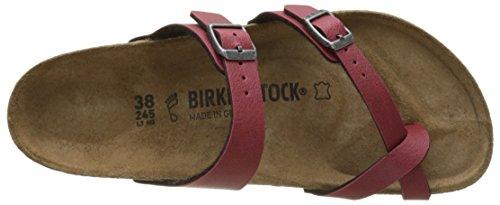 Birkenstock Mayari, Mules para Mujer Rojo (Pull Up Bordeaux)