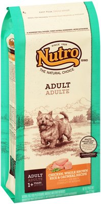 Nutro NATURAL CHOICE Adult Chicken, Whole Brown Rice and Oatmeal Dry Dog Food, 5 lbs