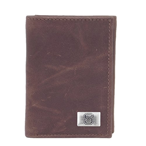 North Carolina Purse (NCAA North Carolina State Wolfpack Men's Tri Fold Wallet, One Size, Brown)