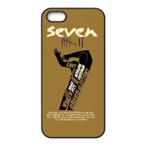 901 Se7En L coque iPhone 5 5S cellulaire cas coque de téléphone cas téléphone cellulaire noir couvercle EOKXLLNCD21174