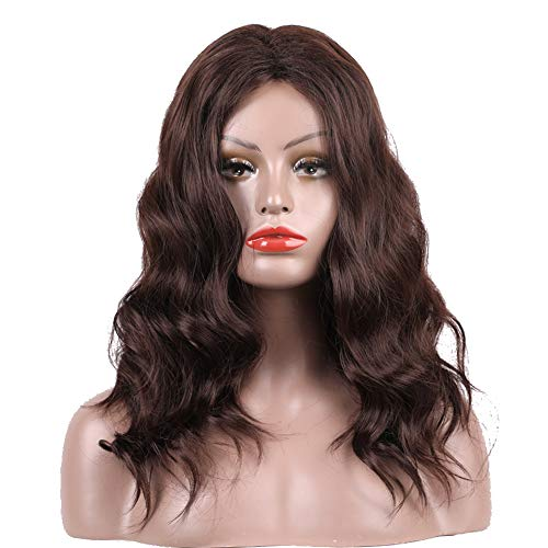 xxiaoTHAWxeFashion Brown Curly Wave Long Wig Faux Hair Women Cosplay Party Hairpiece