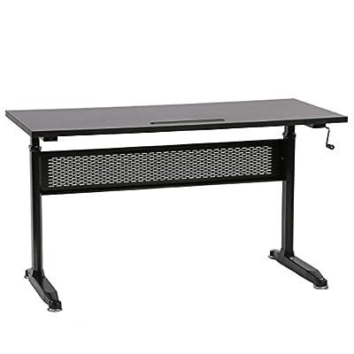 "Standing Desk Adjustable Height Desk Stand Up Desk Sit Stand Desk For Laptop And Monitor,55"""