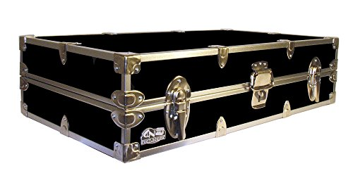 756ae2314c0d5 College Dorm Room Under Bed Lockable Trunk Footlocker with Cable Lock - The  Slim by C&N Footlockers