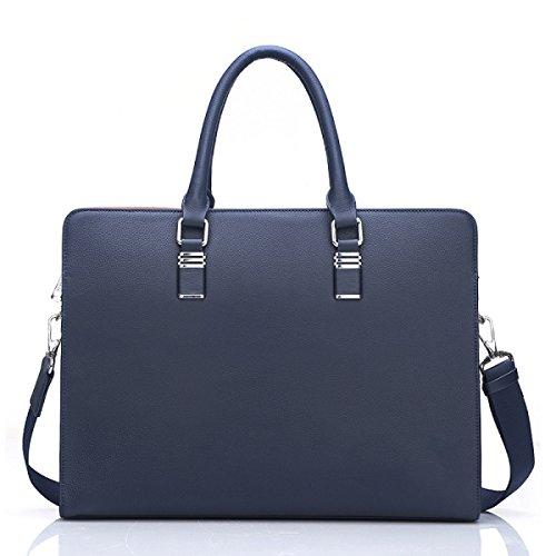 Negocios Casual Bolsas De Cuero Bolsos Para Hombres Bolsos Bolsos Bolsos De Hombres De Cuero Genuino Messenger Bag Blue