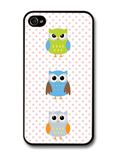 New Cool Owl Pattern Colourful Design Cute Sweet coque pour iPhone 4 4S