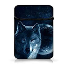 """New Arrival Moon Wolf 15"""" Laptop soft Bag sleeve Flip Cover Case Pouch for Apple Acer Dell Lenovo HP For 15.4"""" 15.5"""" 15.6"""" in HP DELL Acer Sony ASUS,HP Pavilion Envy 15 laptop,DELL STUDIO 1558 1555/ Macbook Pro,15.6"""" Dell inspiron 1545 15 15R PC, Dell Inspiron 15.6"""" Toshiba Satellite,15.6"""" Acer HP Dell ASUS Lenovo,15.6"""" Asus Fujitsu Samsung,15.6"""" Acer Aspire 5735 PC"""