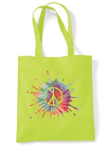 Green Shoulder Bag Psychedelic Symbol Peace Tote CND CND Psychedelic Zfq1Za