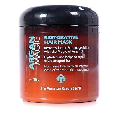 ARGAN MAGIC Restorative Hair Mask - Protein-Rich Conditioning Hair Mask That Hydrates, Restores And Repairs Damaged Hair Types (8 Ounce/226 Gram) by Argan Magic