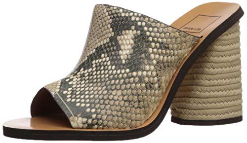 Dolce Vita Women's ALBA Mule, Snake Print Embossed Leather, 8 M US