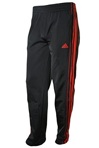 adidas Boys Athletic Pants Black and Red X-Large