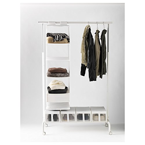 Ikea rigga clothes rack buy online in uae kitchen for Covered clothes rack ikea