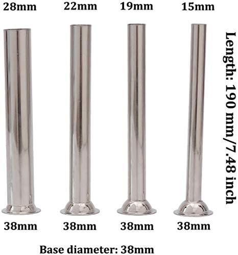 WOVELOT 4Pcs Steel Sausage Stuffer Filling Tubes Funnels Nozzles Spare Parts Filler Tube Base Diameter:38mm