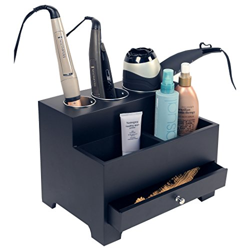 Richards Homewares Personal Hair Styling Storage Chest, Black